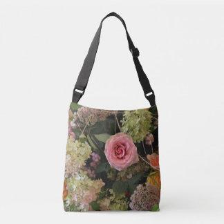 Rose Hydrangea Floral Crossbody Bag