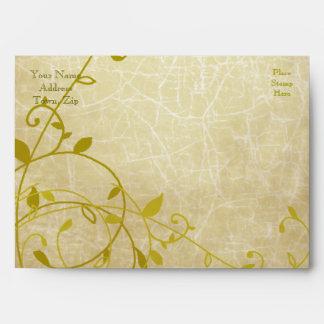Rose II Sweet Vines Crackled Envelope