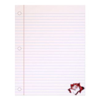 Rose Illusion Goth Notebook Paper Letterhead