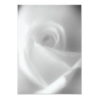 """Rose in Black and White Invitation 5"""" X 7"""" Invitation Card"""
