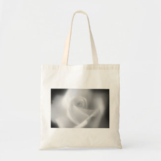 Rose in Black and White Tote Bag