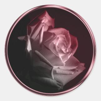 Rose In Bloom Wedding Invitation Envelope Seal Classic Round Sticker