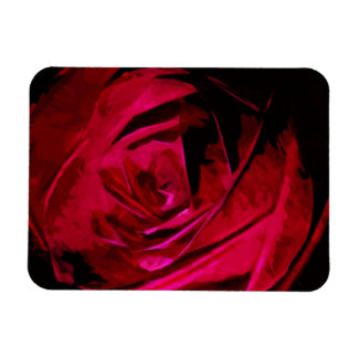 Rose In Darkness Abstract Impressionism Magnet