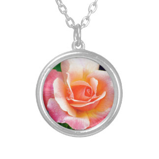 Rose in Full Bloom Silver Plated Necklace