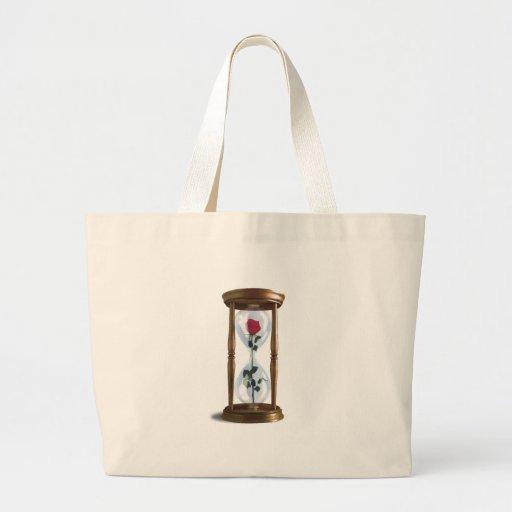 Rose In Hourglass Jumbo Tote Bag