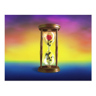 Rose in Hourglass Post Cards
