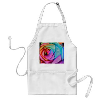 Rose in multi-colours Apron