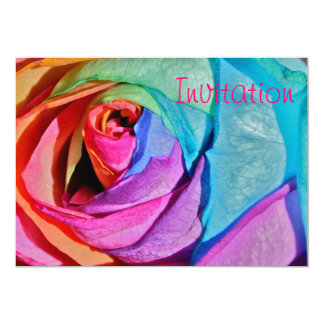 Rose in multi-colours Invitation