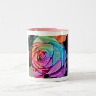 Rose in multi-colours Mug