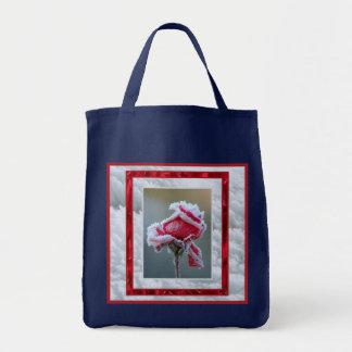 Rose in Winter Tote Bag