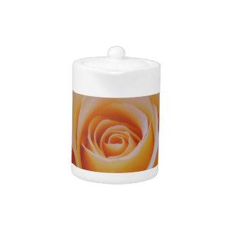 Rose in Yellow Teapot