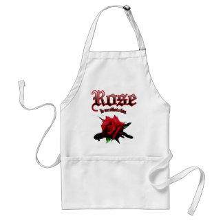rose & ink brush adult apron