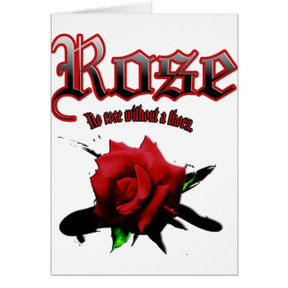 rose & ink brush card