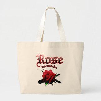 rose & ink brush large tote bag
