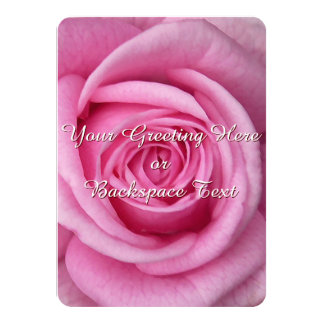 Rose Invitations Personalized Pink Rose RSVP Cards