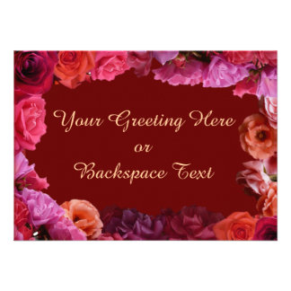 Rose Invitations Personalized  Roses RSVP Cards