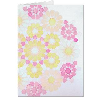 'Rose' Islamic geometry greeting card
