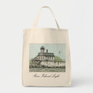 ROSE ISLAND LIGHT NEWPORT RI TOTE BAG