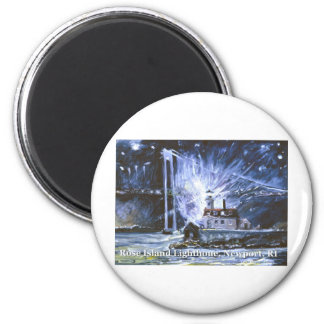 Rose Island Lighthouse 2 Inch Round Magnet
