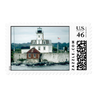 Rose Island Lighthouse Postage Stamps
