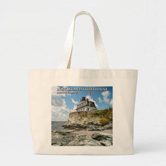 Rose Island Lighthouse, Rhode Island Large Tote Bag