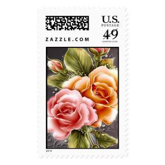 Rose Jewel - Postage Stamp