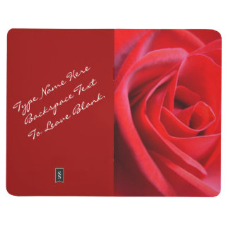 Rose Jounal Notebook Personalized Red Rose Book Journals