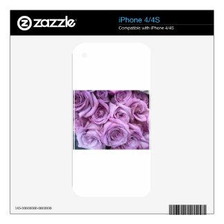 rose.jpg púrpura iPhone 4S calcomanías