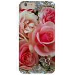 Rose Juxtapose Monogram Barely There iPhone 6 Plus Case