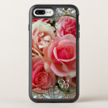 Rose Juxtapose Monogram Pretty Vintage Chic Otterbox Symmetry Iphone 7 Plus Case at Zazzle