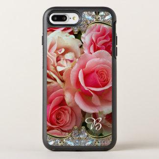 Rose Juxtapose Monogram Pretty Vintage Chic OtterBox Symmetry iPhone 7 Plus Case