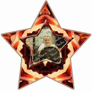 Rose Kaleidoscope Custom Photo Star Ornament Photo Sculptures