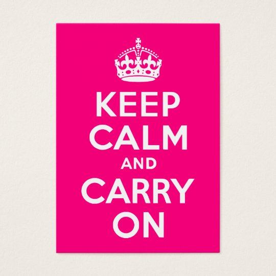 Rose Keep Calm and Carry On Business Card
