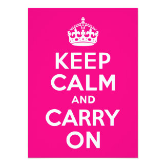 Rose Keep Calm and Carry On Card