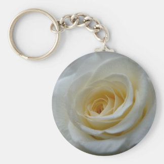Rose Key Chains Cheeful White Flower Gifts