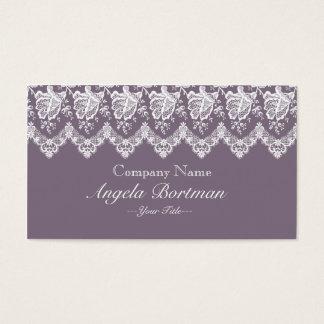 Rose Lace Business Card (Dark Purple)