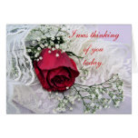 Rose & Lace card