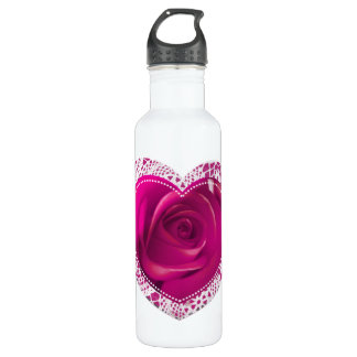 Rose Lace Heart - my liberty bottle