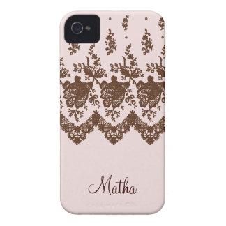Rose Lace iPhone 4 Case-Mate Case