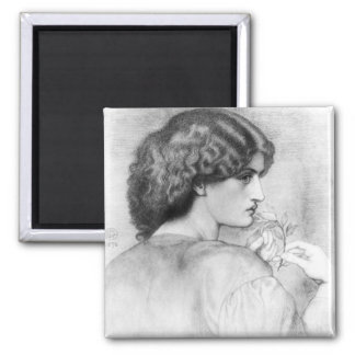 Rose Leaf Lady Drawing Magnet