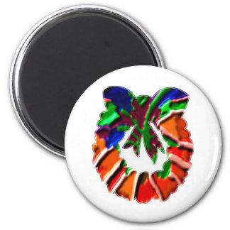 Rose Leaf n Petal based Art Pattern Refrigerator Magnets