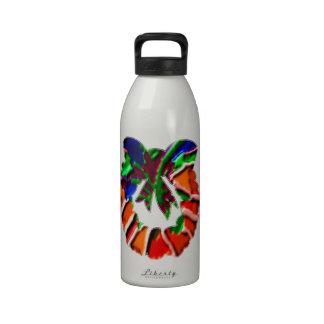 Rose Leaf n Petal based Art Pattern Drinking Bottle