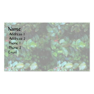 Rose Leaf Square Double-Sided Standard Business Cards (Pack Of 100)