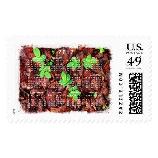 Rose Leaves; 2012 Calendar Postage Stamps
