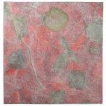 Rose leaves design in red tissue paper napkins