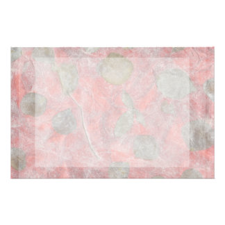 Rose leaves design in red tissue paper stationery