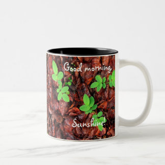 Rose Leaves Two-Tone Coffee Mug