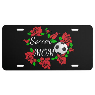 "rose License plate ""soccer Mom"""