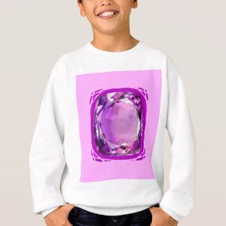 Rose Lilac Amethyst Gemstone by SHARLES Sweatshirt