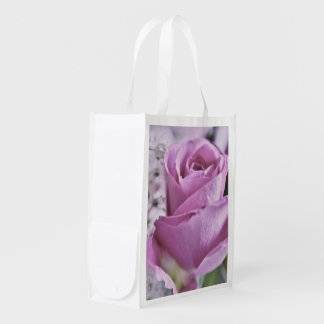 Rose Lilac Grocery Bag